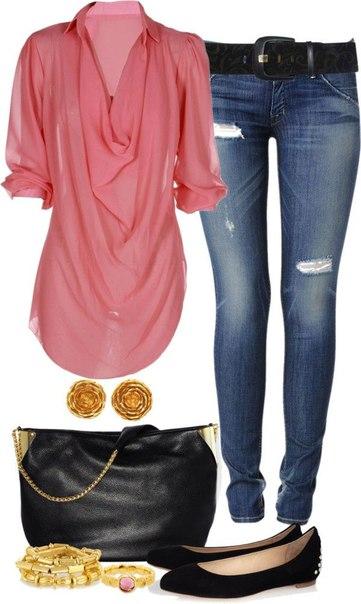 Блузка розовая hm