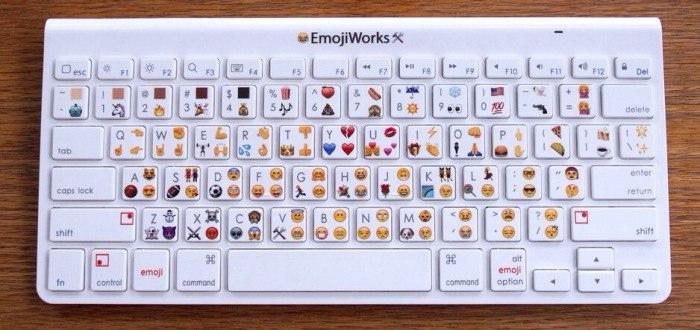 Разработана клавиатура со смайлами Emoji