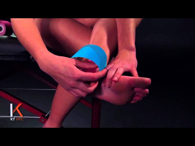 KT Tape Ankle Stability Тейпирование голеностопа -- стабилизация