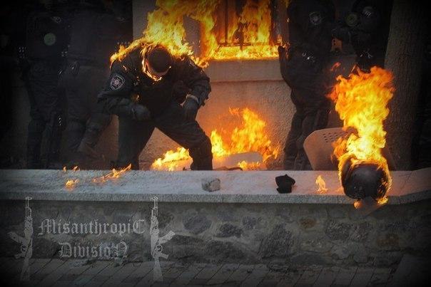 "Отряд ""Misanthropic Division"" на Майдане, Киев (зима 2014)"
