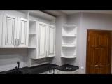 Кухня МДФ пленка с фрезерованными фасадами в серой патине (ТЕЯ МЕБЕЛЬ teya-m.ru)