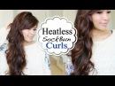 Overnight HEATLESS Sock Bun Curls Hair Tutorial