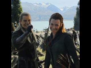 "Instagram: ""#legolas #tauriel #orlandobloom #evangelinelilly #elvish rock on"""