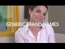 Weekly English Words with Alisha - Generic Brand Names