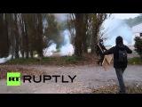 Франция: Протесты восстал за пределами полиции гранаты завод.