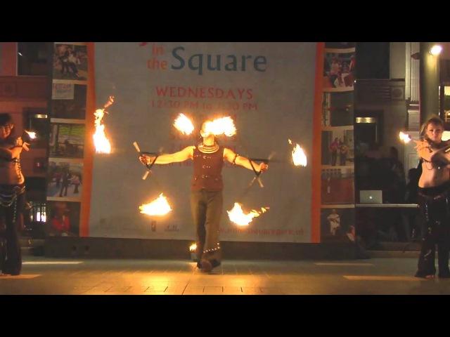 Fire Staff, Triple Staff, Palm Pots: Manda Lights: 2009 Temple of Poi Fire Dancing Expo