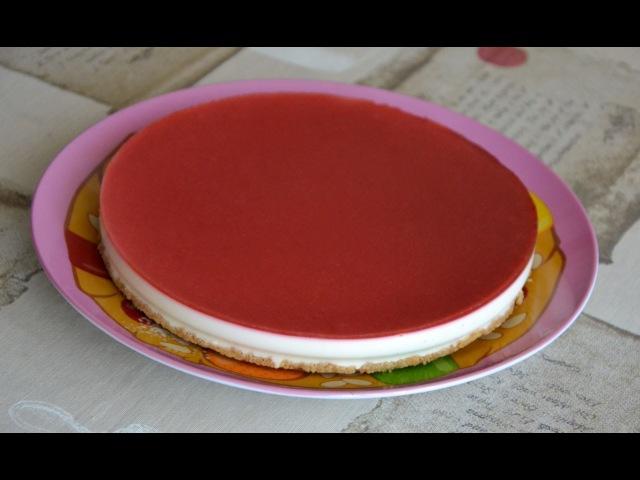 Чизкейк без выпечки клубничный с агар-агар