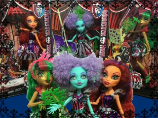 Monster High Freak Du Chic - Honey Swamp, Jinafire Long, Toralei Stripe
