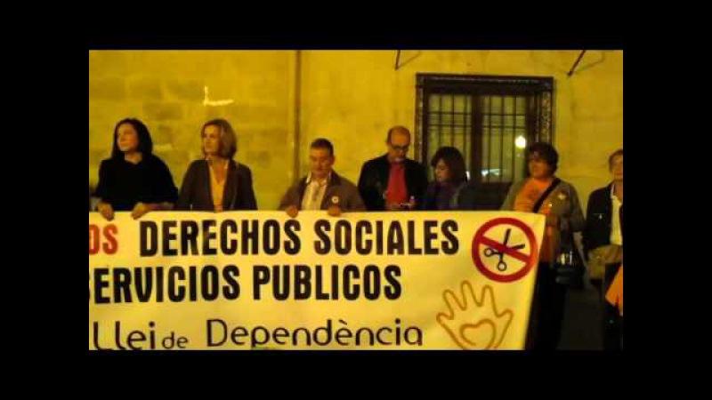 CONCENTRACIÓN EN DEFENSA DE LA, LEY DE DEPENDENCIA EN ELCHE (Alicante/España) [29/10/2015]