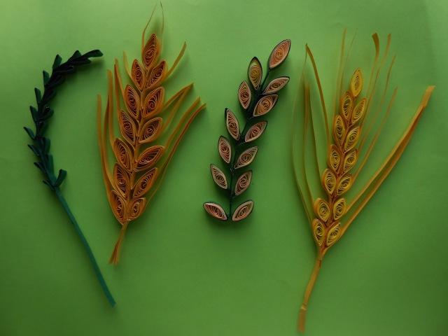 How to make Quilling Leaf/Wheat Grain Stem using Comb   AV VISUALS TUTORIAL