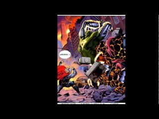 Thor Vs Thing(Angrir breaker of souls) and Hulk(Nul breaker of worlds)