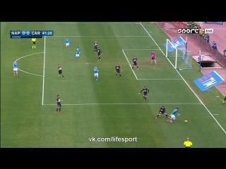 Наполи 1:0 Карпи | Итальянская Серия А | 2015/16 | 24-й тур | Обзор матча