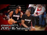 Dwyane Wade & Ama're Stoudemire Full Highlights 2016.02.02 at Rockets - 30 Pts Combined