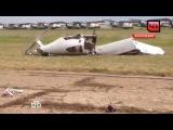 ВОренбургской области самолет разбился на взлетной полосе  видео сместа ЧП