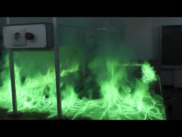 Flammenfarbe von Borsäuretrimethylester - flame color of trimethyl borate