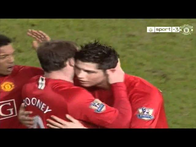 CR7 2nd Goal free kick vs Portsmouth (H) 07-08 HD 720p by Omar MUCR7.wmv