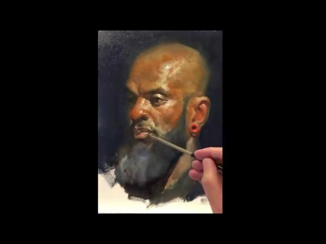 Marvin Alla Prima painting demo, by Zimou Tan
