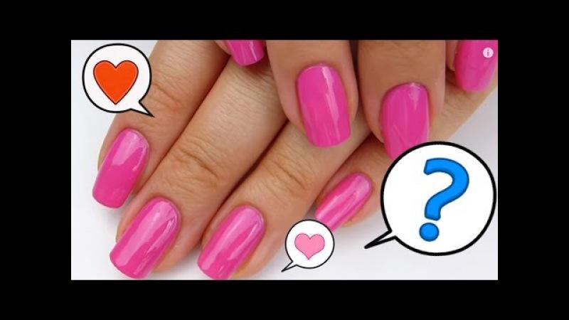Как НАУЧИТЬСЯ АККУРАТНО красить ногти / Техника нанесения лака / Маникюр в домаш ...