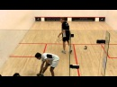 Squash video Nick Matthew v Saurav Ghosal match (first game) PSL 2014 Duffield v Pontefract