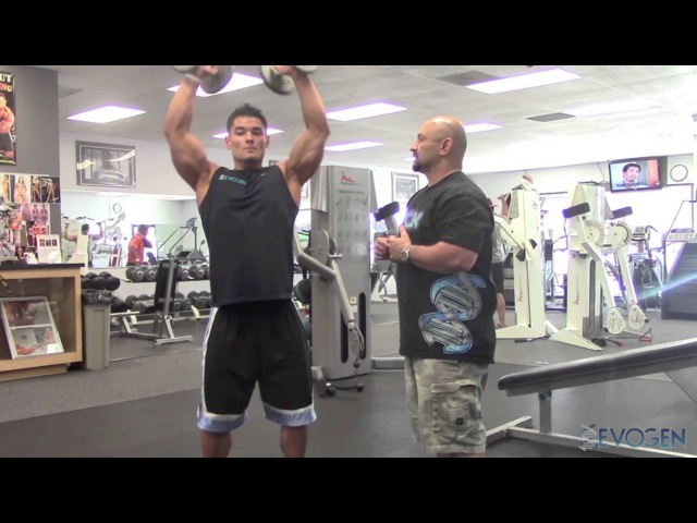 IFBB Pro Men's Physique Jeremy Buendia trains delts with The Pro Creator, Hany Rambod