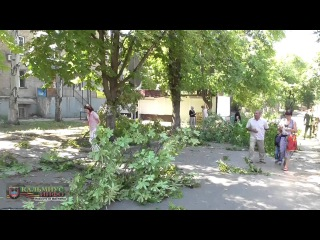 Новости от Ватника: Результаты обстрела центра г.Донецк вечером 18 июля