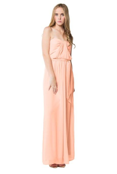 kwzmv0L0dxo - Актуальные в наступающем сезоне персиковые свадебные платья