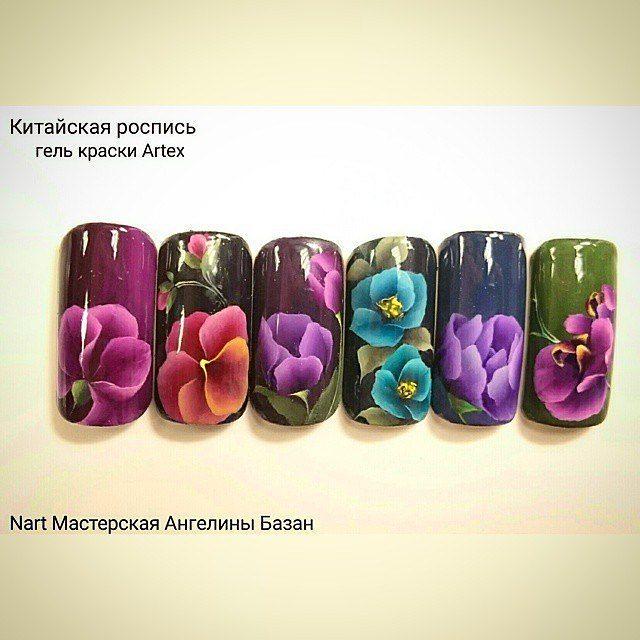Роспись на ногтях лаком