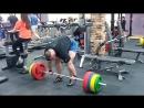 Вадим Гончаренок, становая тяга - 240 кг на 3 раза, первая тренировка тяги после перерыва.