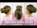 Ribbon Braid Wrapped Sock Bun |