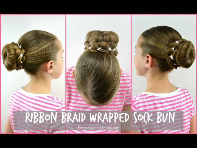 Ribbon Braid Wrapped Sock Bun   » Freewka.com - Смотреть онлайн в хорощем качестве