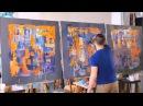 Как пишут абстрактные картины Андрей Самарин HD