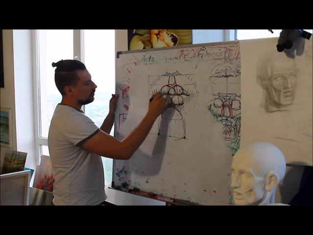 Как рисовать губы Урок Андрея Самарина HD