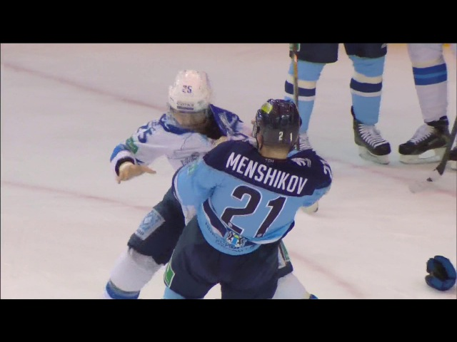 Бой КХЛ Меньшиков VS Рыспаев KHL Fight Menshikov VS Ryspayev