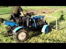 Мини трактор из мотоблока с волокушей
