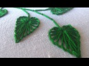 Hand Stitching | Button Hole Stitch Leaves | HandiWorks 27