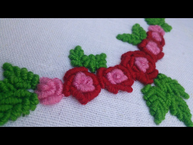 Hand Embroidery | Bullion Stitch flower | HandiWorks 37
