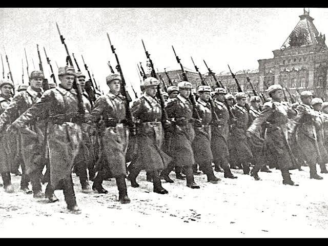 Военный Парад в Москве, 7 ноября 1941 г. Историческая Кинохроника