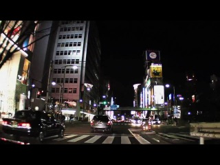 Drive at night in Tokyo