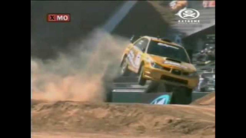 Colin McRae - 2006 X Games 2nd place. Subaru Crash/Roll - Travis Pastrana