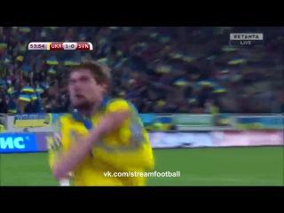 Украина 2-0 Словения (Обзор матча 14 ноября 2015 г, Стыковой матч Чемпионата Европы)