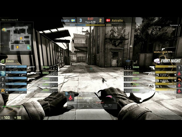 Fnatic vs Astralis, Betway Aftonbladet Fight Night 3, map 3 train