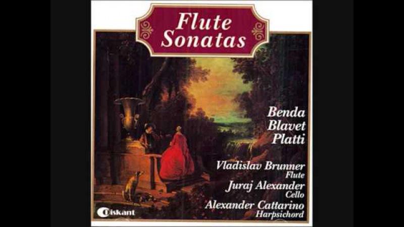 Vladislav Brunner, Platti Flute Sonata No.1 in E minor