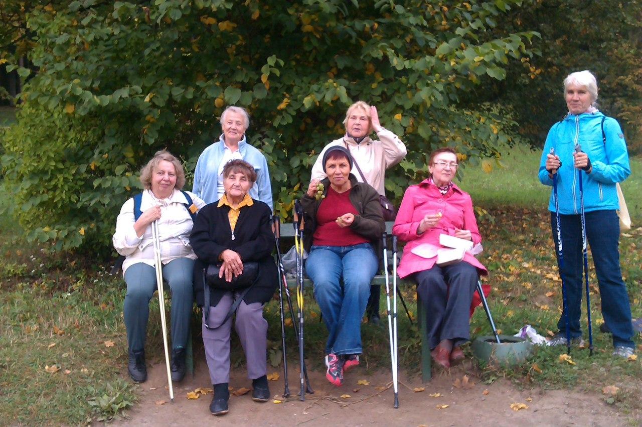 Секция скандинавской ходьбы (Nordic walking) Павловский парк 17 сентября 2015 года