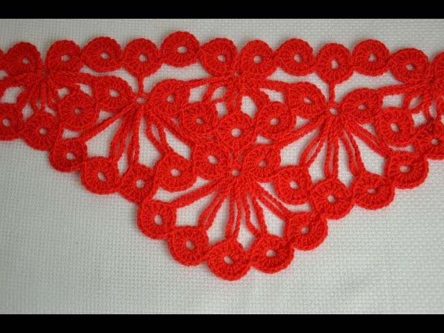 ♥ Узор крючком для шали Гроздья Рябины Crochet stitch The bunch of rowan