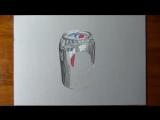 3д рисунок банка пепси