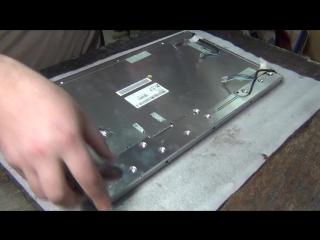 Видео ответ про подсветку жк монитора или можно ли поменять лампы подсветки без разборки матрицы