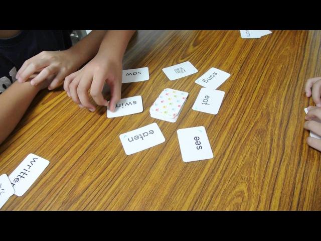 A Card Game for Irregular Verb Practice