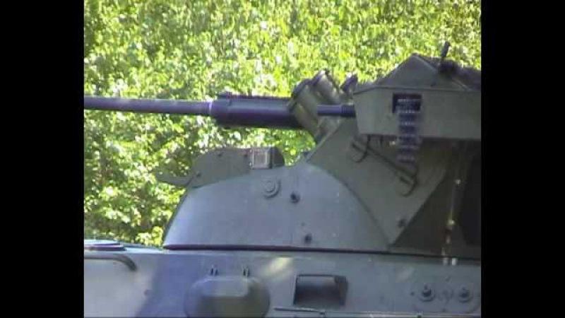 Modernised BTR-60 BRDM-2 shooting