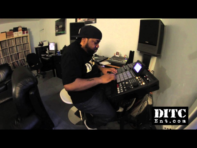 DITC's LORD FINESSE pre-producing in home studio