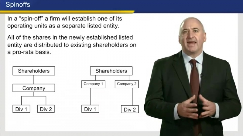 5 Corporate Restructuring via Spinoffs Divestitures and Equity Carve outs 8 39